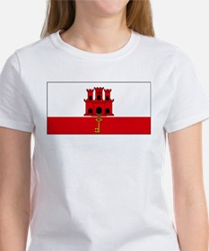 Gibraltar Flag Picture Women's T-Shirt