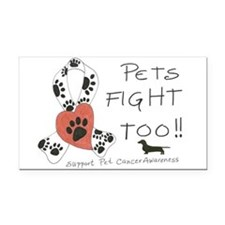 Pets Fight Too (Dachshund) Rectangle Car Magnet