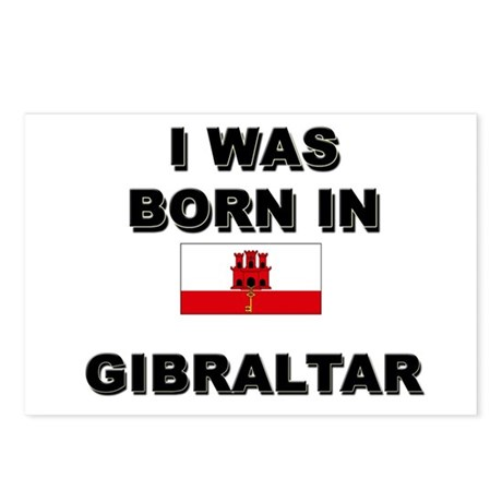 I Was Born In Gibraltar Postcards (Package of 8)