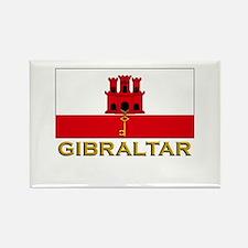 Gibraltar Flag Stuff Rectangle Magnet