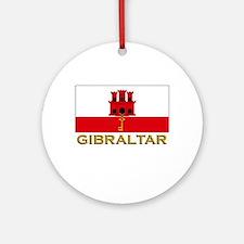 Gibraltar Flag Stuff Ornament (Round)