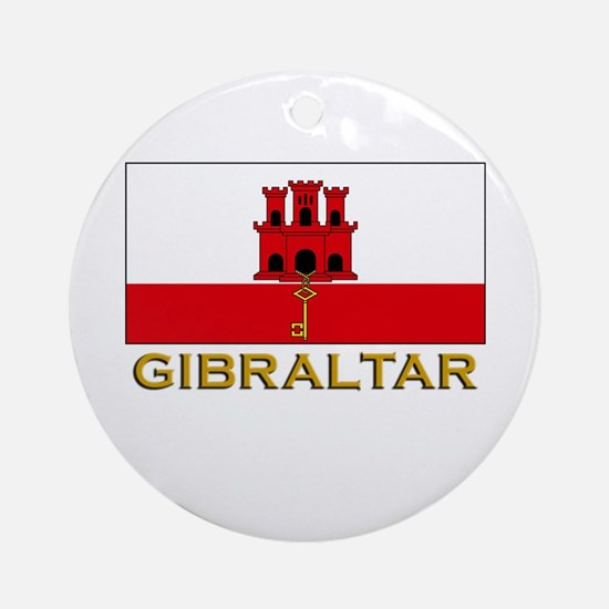 Gibraltar Flag Stuff Ornament (Round)