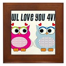 Owl Love You Framed Tile