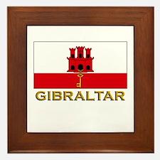 Gibraltar Flag Stuff Framed Tile
