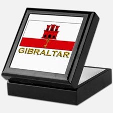 Gibraltar Flag Stuff Keepsake Box