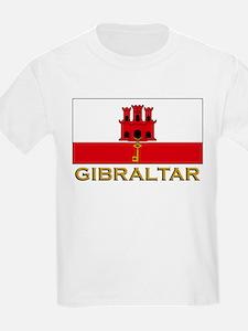 Gibraltar Flag Stuff Kids T-Shirt