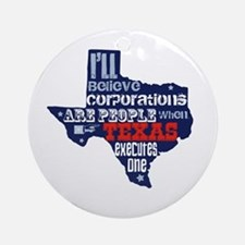 Corporations Are People Ornament (Round)