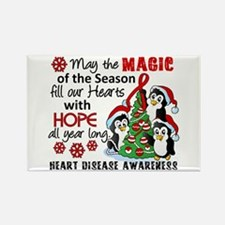 Holiday Penguins Heart Disease Rectangle Magnet