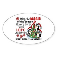 Holiday Penguins Heart Disease Decal