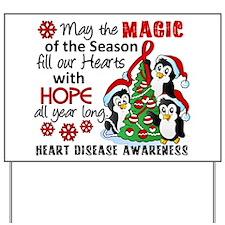 Holiday Penguins Heart Disease Yard Sign