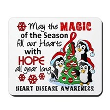 Holiday Penguins Heart Disease Mousepad