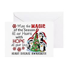 Holiday Penguins Heart Disease Greeting Cards (Pk