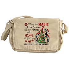 Holiday Penguins Heart Disease Messenger Bag
