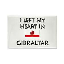 I Left My Heart In Gibraltar Rectangle Magnet