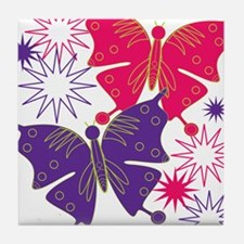 Butterfly Starburst Tile Coaster