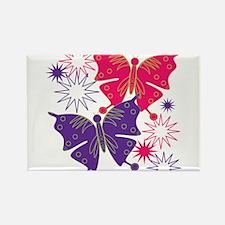 Butterfly Starburst Rectangle Magnet
