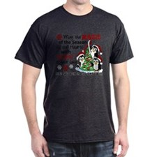 Holiday Penguins Head and Neck Cancer T-Shirt