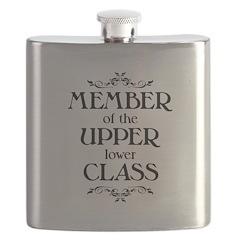 Member of the Upper Lower Class - light Flask