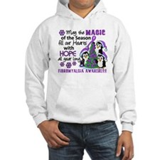 Holiday Penguins Fibromyalgia Hoodie