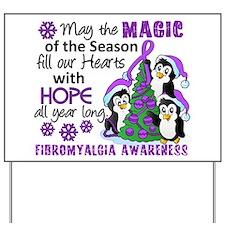 Holiday Penguins Fibromyalgia Yard Sign