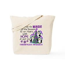 Holiday Penguins Fibromyalgia Tote Bag