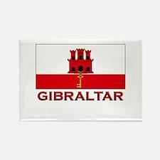 Gibraltar Flag Gear Rectangle Magnet