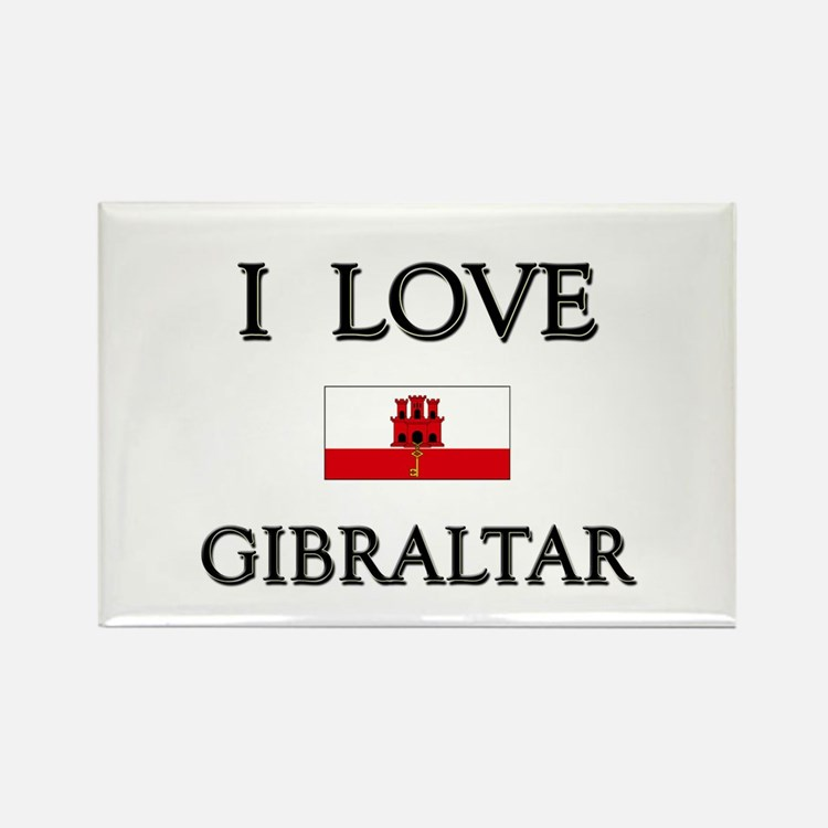 I Love Gibraltar Rectangle Magnet