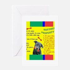 Property Laws -Mug -Rottweiler Greeting Cards