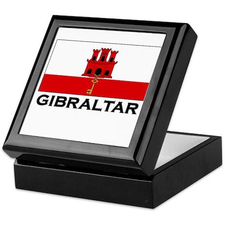 Gibraltar Flag Merchandise Keepsake Box