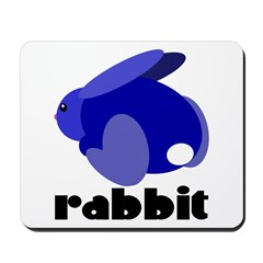 Blue Rabbit Mousepad