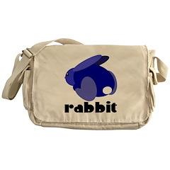 Blue Rabbit Messenger Bag