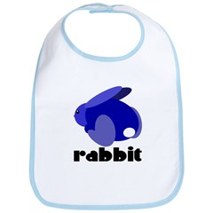 Blue Rabbit Bib