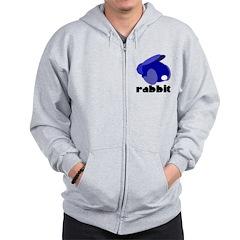 Blue Rabbit Zip Hoodie