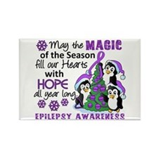 Holiday Penguins Epilepsy Rectangle Magnet