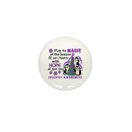 Holiday Penguins Epilepsy Mini Button (10 pack)