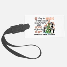 Holiday Penguins Endometrial Cancer Luggage Tag
