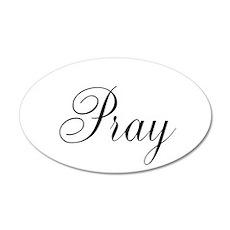 Pray Black script Wall Sticker