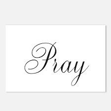 Pray Black script Postcards (Package of 8)