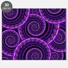 Purple Spiral Fractal Art Pattern Puzzle