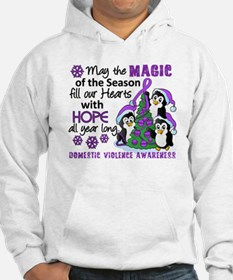 Holiday Penguins Domestic Violence Hoodie