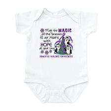 Holiday Penguins Domestic Violence Infant Bodysuit