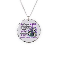 Holiday Penguins Domestic Violence Necklace
