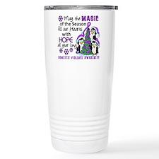 Holiday Penguins Domestic Violence Travel Mug