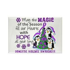 Holiday Penguins Domestic Violence Rectangle Magne