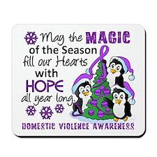 Holiday Penguins Domestic Violence Mousepad