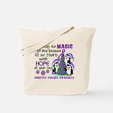Holiday Penguins Domestic Violence Tote Bag