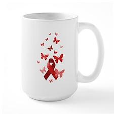 Red Awareness Ribbon Mug