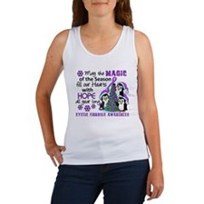Holiday Penguins Cystic Fibrosis Women's Tank Top
