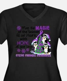 Holiday Penguins Cystic Fibrosis Women's Plus Size
