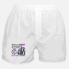 Holiday Penguins Cystic Fibrosis Boxer Shorts